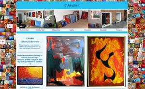 Hvert kunstmaler besøg er som en fernissage - masser af flot kunst til øjet og en kop rødvin til sjælen :-)